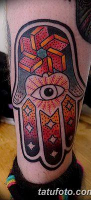 фото тату Рука Фатимы от 24.04.2018 №075 – tattoo Hand of Fatima (hamsa) – tatufoto.com