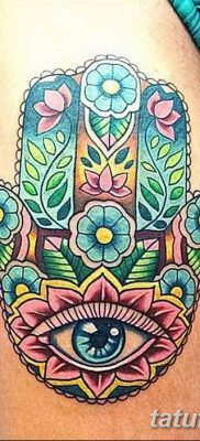 фото тату Рука Фатимы от 24.04.2018 №077 – tattoo Hand of Fatima (hamsa) – tatufoto.com