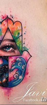 фото тату Рука Фатимы от 24.04.2018 №078 – tattoo Hand of Fatima (hamsa) – tatufoto.com