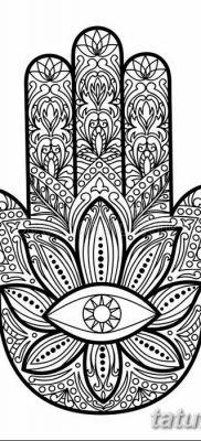фото тату Рука Фатимы от 24.04.2018 №080 – tattoo Hand of Fatima (hamsa) – tatufoto.com