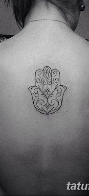 фото тату Рука Фатимы от 24.04.2018 №087 – tattoo Hand of Fatima (hamsa) – tatufoto.com