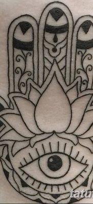 фото тату Рука Фатимы от 24.04.2018 №091 – tattoo Hand of Fatima (hamsa) – tatufoto.com