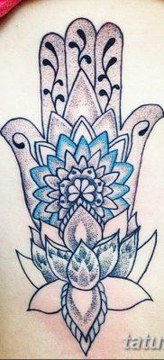 фото тату Рука Фатимы от 24.04.2018 №092 – tattoo Hand of Fatima (hamsa) – tatufoto.com