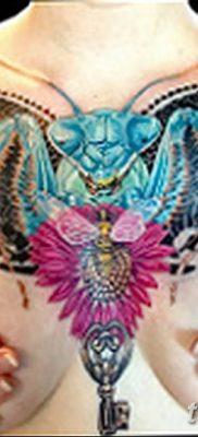 фото тату богомол от 20.04.2018 №020 – mantis tattoo – tatufoto.com