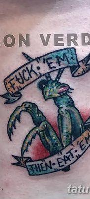 фото тату богомол от 20.04.2018 №022 – mantis tattoo – tatufoto.com