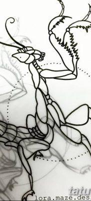 фото тату богомол от 20.04.2018 №030 – mantis tattoo – tatufoto.com
