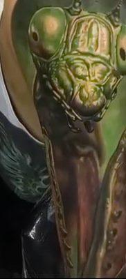 фото тату богомол от 20.04.2018 №070 – mantis tattoo – tatufoto.com