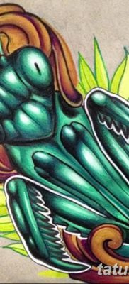 фото тату богомол от 20.04.2018 №092 – mantis tattoo – tatufoto.com