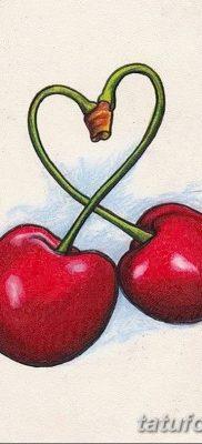 фото тату вишенки от 21.04.2018 №006 – cherry tattoos – tatufoto.com