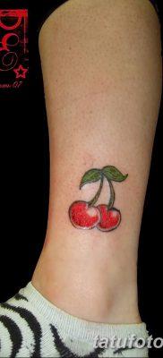фото тату вишенки от 21.04.2018 №007 – cherry tattoos – tatufoto.com