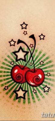 фото тату вишенки от 21.04.2018 №016 – cherry tattoos – tatufoto.com