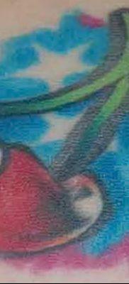 фото тату вишенки от 21.04.2018 №122 – cherry tattoos – tatufoto.com