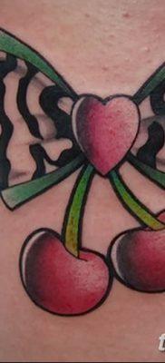 фото тату вишенки от 21.04.2018 №124 – cherry tattoos – tatufoto.com