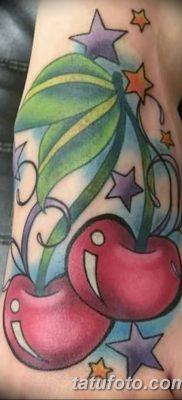 фото тату вишенки от 21.04.2018 №138 – cherry tattoos – tatufoto.com