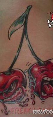 фото тату вишенки от 21.04.2018 №139 – cherry tattoos – tatufoto.com
