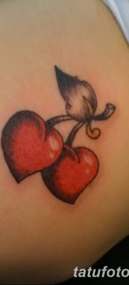 фото тату вишенки от 21.04.2018 №141 – cherry tattoos – tatufoto.com