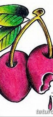 фото тату вишенки от 21.04.2018 №145 – cherry tattoos – tatufoto.com