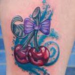 фото тату вишенки от 21.04.2018 №148 - cherry tattoos - tatufoto.com
