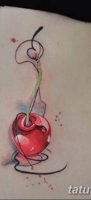 фото тату вишенки от 21.04.2018 №154 – cherry tattoos – tatufoto.com