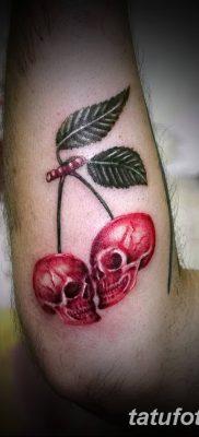 фото тату вишенки от 21.04.2018 №174 – cherry tattoos – tatufoto.com