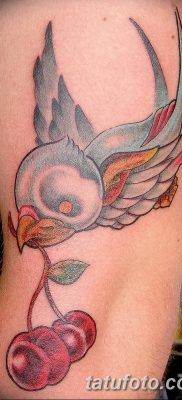 фото тату вишенки от 21.04.2018 №177 – cherry tattoos – tatufoto.com
