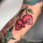 фото тату вишенки от 21.04.2018 №190 - cherry tattoos - tatufoto.com