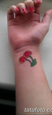 фото тату вишенки от 21.04.2018 №194 – cherry tattoos – tatufoto.com