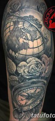 фото тату земной шар от 16.04.2018 №005 – tattoo globe – tatufoto.com