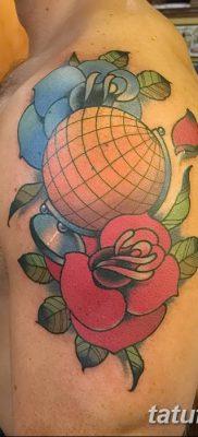 фото тату земной шар от 16.04.2018 №007 – tattoo globe – tatufoto.com