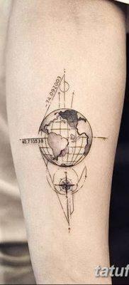 фото тату земной шар от 16.04.2018 №013 – tattoo globe – tatufoto.com