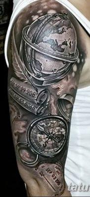 фото тату земной шар от 16.04.2018 №022 – tattoo globe – tatufoto.com