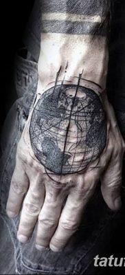 фото тату земной шар от 16.04.2018 №031 – tattoo globe – tatufoto.com