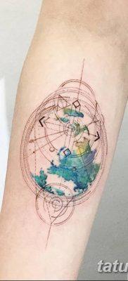 фото тату земной шар от 16.04.2018 №032 – tattoo globe – tatufoto.com