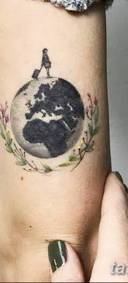 фото тату земной шар от 16.04.2018 №035 – tattoo globe – tatufoto.com
