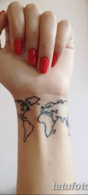фото тату земной шар от 16.04.2018 №036 – tattoo globe – tatufoto.com
