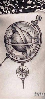 фото тату земной шар от 16.04.2018 №041 – tattoo globe – tatufoto.com