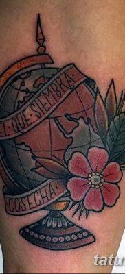фото тату земной шар от 16.04.2018 №042 – tattoo globe – tatufoto.com