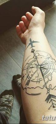 фото тату земной шар от 16.04.2018 №043 – tattoo globe – tatufoto.com