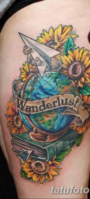 фото тату земной шар от 16.04.2018 №044 – tattoo globe – tatufoto.com