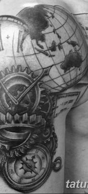 фото тату земной шар от 16.04.2018 №049 – tattoo globe – tatufoto.com