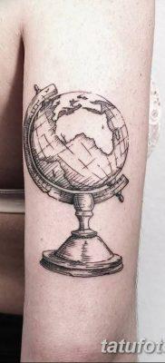 фото тату земной шар от 16.04.2018 №050 – tattoo globe – tatufoto.com
