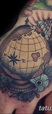 фото тату земной шар от 16.04.2018 №057 – tattoo globe – tatufoto.com