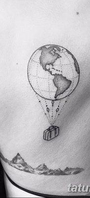 фото тату земной шар от 16.04.2018 №060 – tattoo globe – tatufoto.com