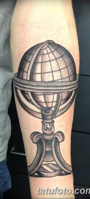 фото тату земной шар от 16.04.2018 №061 – tattoo globe – tatufoto.com