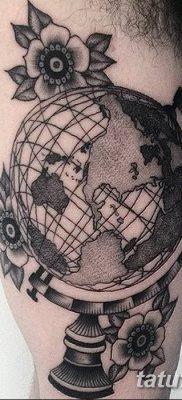 фото тату земной шар от 16.04.2018 №062 – tattoo globe – tatufoto.com