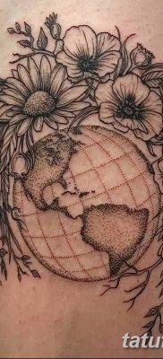 фото тату земной шар от 16.04.2018 №067 – tattoo globe – tatufoto.com