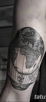 фото тату земной шар от 16.04.2018 №071 – tattoo globe – tatufoto.com