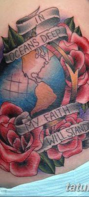 фото тату земной шар от 16.04.2018 №074 – tattoo globe – tatufoto.com