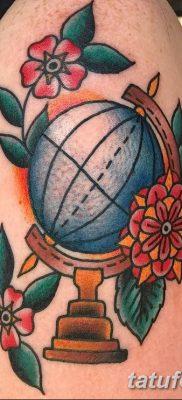 фото тату земной шар от 16.04.2018 №078 – tattoo globe – tatufoto.com