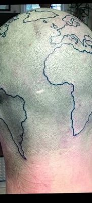 фото тату земной шар от 16.04.2018 №079 – tattoo globe – tatufoto.com